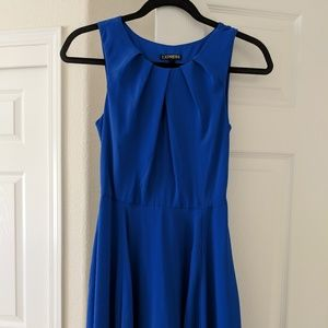 Express Royal Blue Keyhole Dress